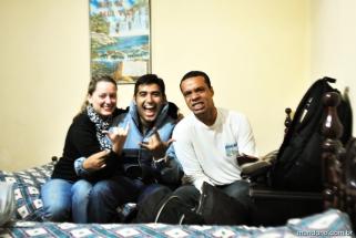 Eu, Daniel e Rafa no hostel
