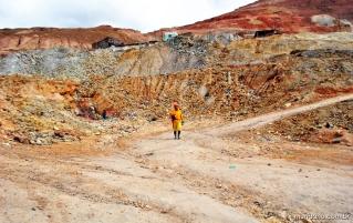 Saindo das minas de Potosí