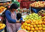 Chola vendedora no mercado central