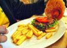 Lhama burger com fritas