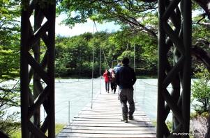 Ponte também faz parte da trilha até o Glaciar Grey