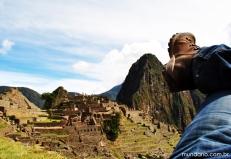 Descansando e contemplando a cidade perdida dos incas