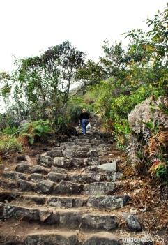 As escadarias de pedra