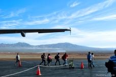 Aeroporto de Calama no meio das montanhas do deserto