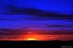 Pôr-do-sol em Calama de outro lado