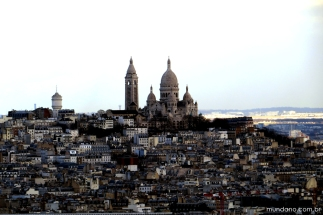 Basílica do Sacré Coeur, vista a partir da Torre Eiffel