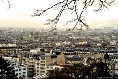 A cidade de Paris vista da Basílica do Sacré Coeur