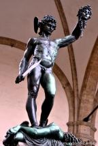 Escultura de Perseu na Piazza della Signoria