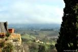 San Gimignano e uma vista da Toscana