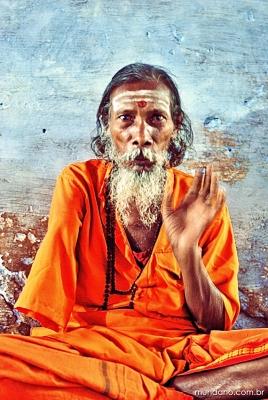 Brahmin que mora no caminho do Lalita Ghat