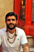 À porta de um dos templos de Ganesha